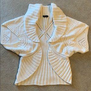 BCBG White Soft Cardigan